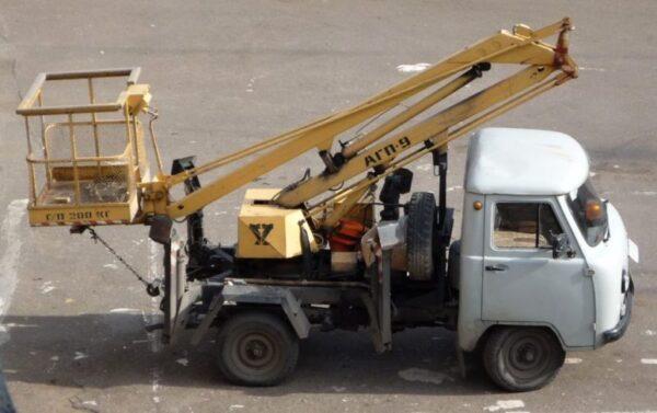 Автовышка АГП 9 на базе УАЗ